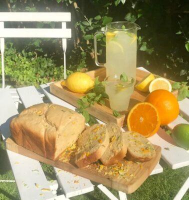Brioche de cítricos naranja, limón y lima