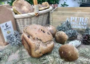 Pan de otoño con boletus